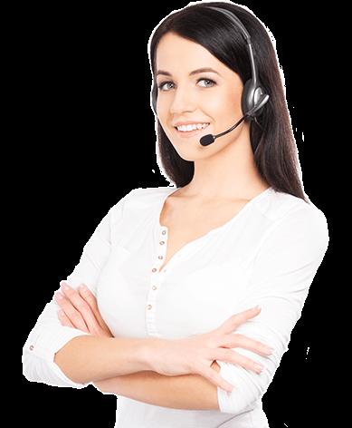 Call center technician image.
